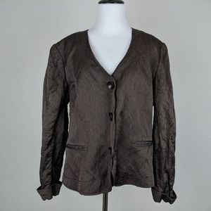 Lafayette 148 New York Brown Jacket Plus